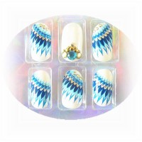 20 Airbrush French Tips Designer Tips Nails 1x Feile+Rosenholz Gratis