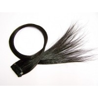 5x Clip in Extensions Schwarz PC103