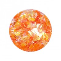 1 Döschen Glitzer Flakes / Crushed Ice Folie Orange