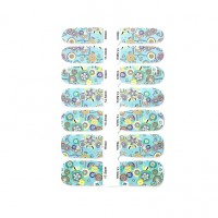 14 x Nagelfolie Nail Art Stripes Folie Mint + Feile