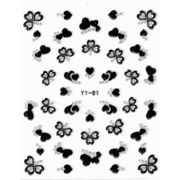 Nailart Sticker Black/Silver