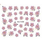 Nail Art Glitter Sticker Nailart Tattoo Blüten Pink
