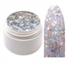 Exclusive Glamour Glitter Farbgel Silber 5ml