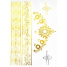 Temporary Body Tattoo Gold Silber Metallic Collier Armband
