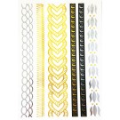 Temporary Body Tattoo Gold Silber Metallic Collier