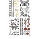 4 x Set Body Tattoos Temporary Tattoo Vögel / Ketten / Schmetterling