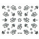 Nail Art Sticker Schwarz  Nailart Tattoo Schmetterling