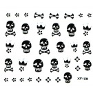 Nail Art Sticker Schwarz  Nailart Tattoo Totenkopf