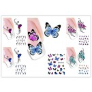 Nail Art Sticker Tattoo Water Transfer Schmetterlinge