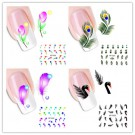 Nail Art Sticker Tattoo Water Transfer Feder
