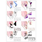 Nail Art Sticker Tattoo Water Transfer Blüten Design