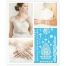 White Lace Temporary Body Flash Henna Tattoo Weiß Kette Armband Ornament