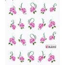 One Stroke Sticker Nailart Tattoo Blüten Pink