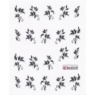 One Stroke Sticker Nailart Tattoo Blüten Schwarz