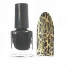 Crackle Polish Nagellack Schwarz