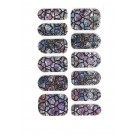 12 x Dual Form Nagelfolie Nail Art Stripes Folie Lila Dream Schlange + Feile