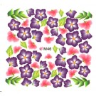 One Stroke Sticker Nailart Tattoo Blüten Lila Pink