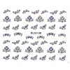 Nail Art Glitter Sticker Nailart Tattoo Herzchen Lila
