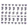 Nail Art Glitter Sticker Nailart Tattoo Butterfly Lila Silber