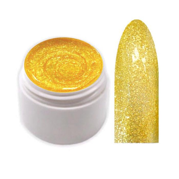 Glimmer Collection Farbgel Shimmering Yellow