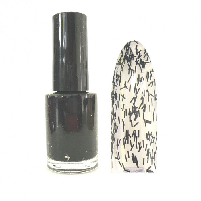 Sticky Style Nagellack Feather Effect Nail Polish Feder Look Black SSN-3