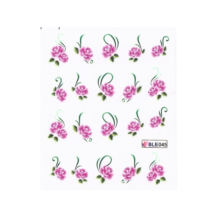one stroke sticker nailart tattoo bl ten pink nageldesign. Black Bedroom Furniture Sets. Home Design Ideas