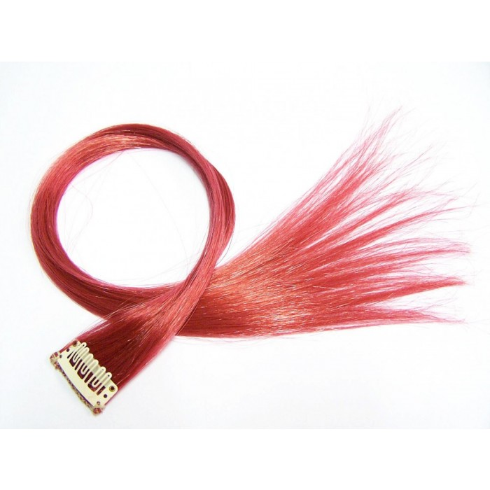 Clip in Extensions Bordeaux Rot PC12