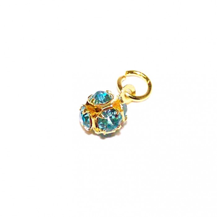 Nail Piercing / Dangle Kugel Blau