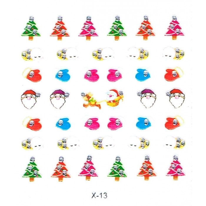 Nail Art Sticker Weihnachten X-Mas Tattoo
